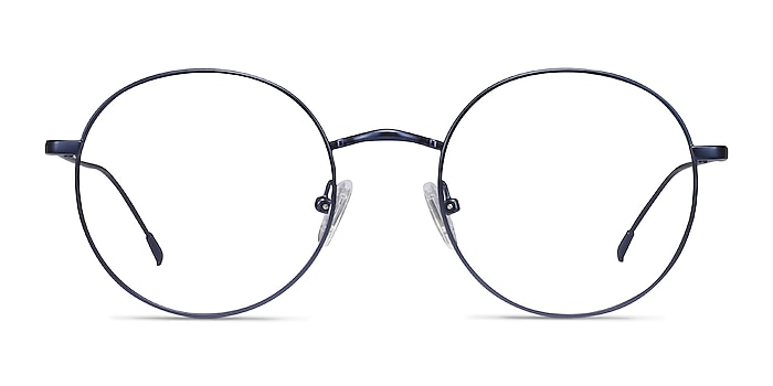 Dapper Navy Metal Eyeglass Frames from EyeBuyDirect