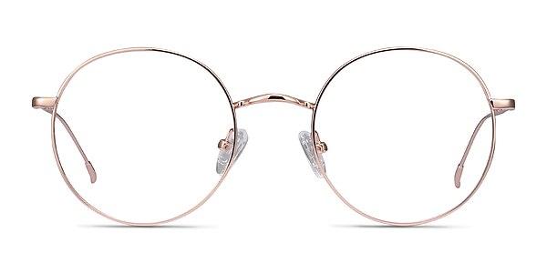Dapper Rose Gold Metal Eyeglass Frames