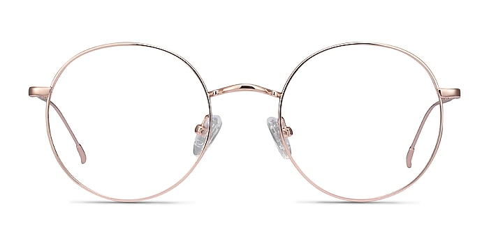 Dapper Rose Gold Metal Eyeglass Frames from EyeBuyDirect