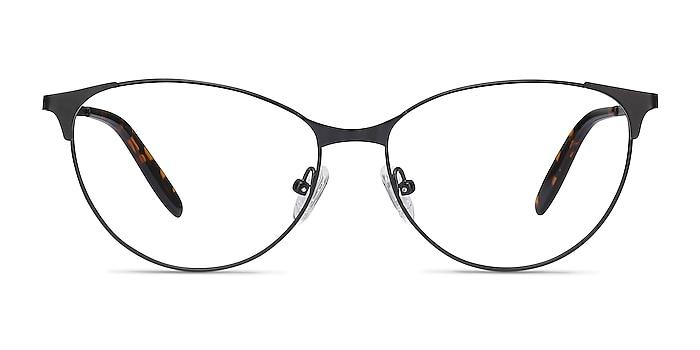 Sisi Black Metal Eyeglass Frames from EyeBuyDirect