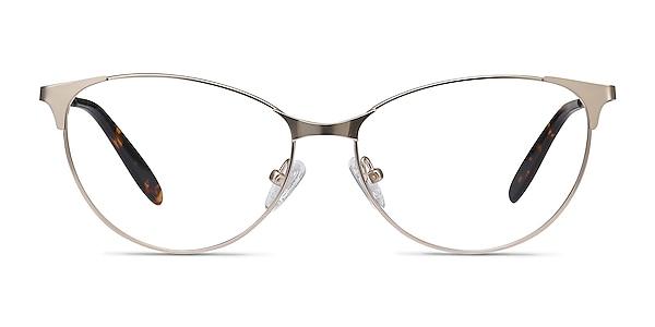 Sisi Rose Gold Métal Montures de lunettes de vue