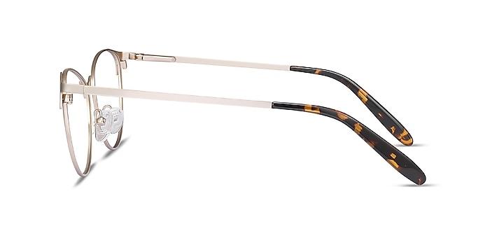 Sisi Rose Gold Metal Eyeglass Frames from EyeBuyDirect