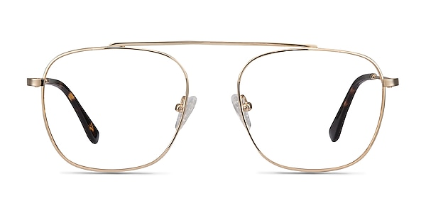 Moxie Golden Metal Eyeglass Frames