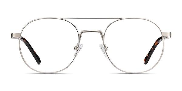 Lock XL Silver Metal Eyeglass Frames