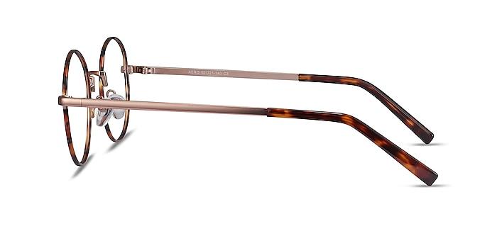 Aero Tortoise Golden Metal Eyeglass Frames from EyeBuyDirect