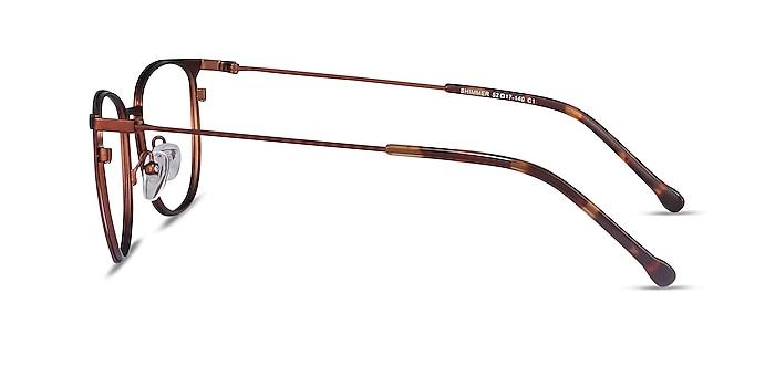 Shimmer Red Metal Eyeglass Frames from EyeBuyDirect