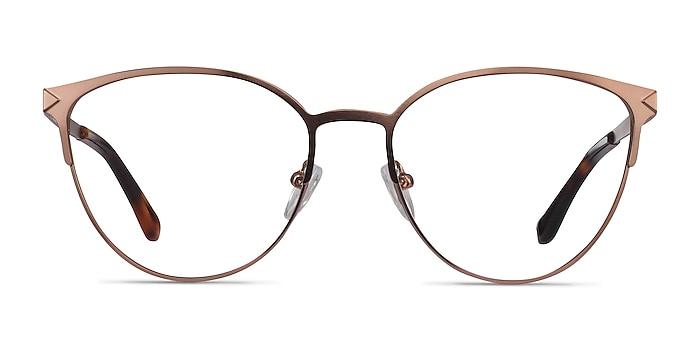 Nadia Rose Gold Metal Eyeglass Frames from EyeBuyDirect