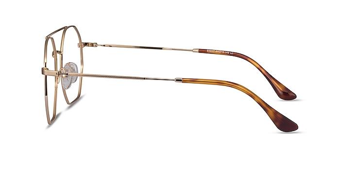 Eight Golden Metal Eyeglass Frames from EyeBuyDirect