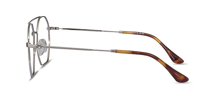 Eight Silver Metal Eyeglass Frames from EyeBuyDirect