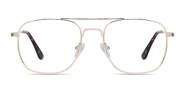 Fame Golden Metal Eyeglass Frames from EyeBuyDirect