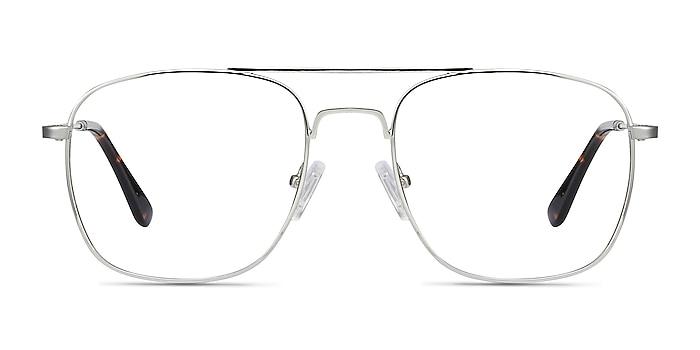 Fame Silver Metal Eyeglass Frames from EyeBuyDirect