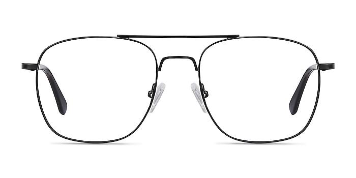 Fame Noir Métal Montures de lunettes de vue d'EyeBuyDirect