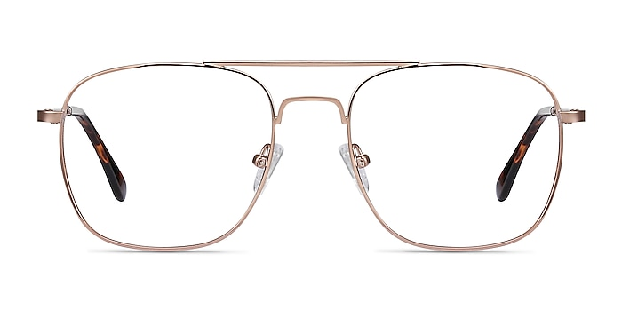 Fame Rose Gold Metal Eyeglass Frames from EyeBuyDirect