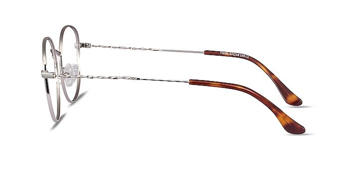 Twirl Silver Metal Eyeglass Frames from EyeBuyDirect