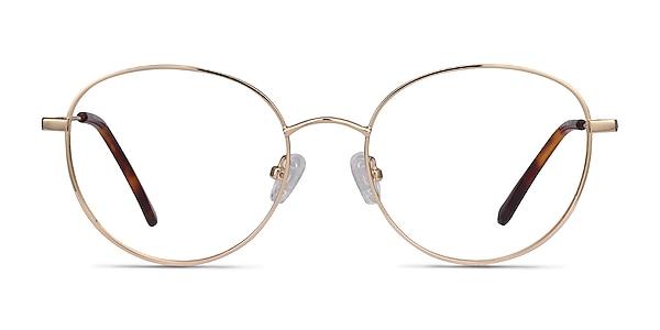 Twirl Golden Metal Eyeglass Frames