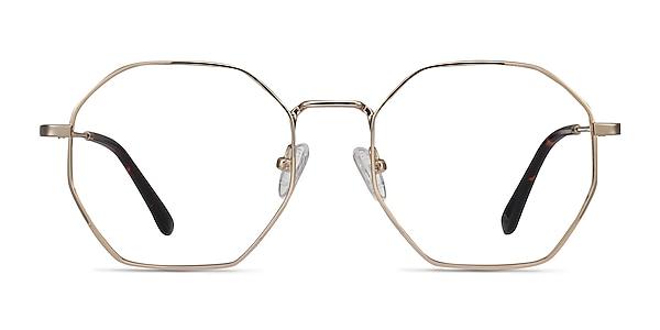 Octave Golden Metal Eyeglass Frames