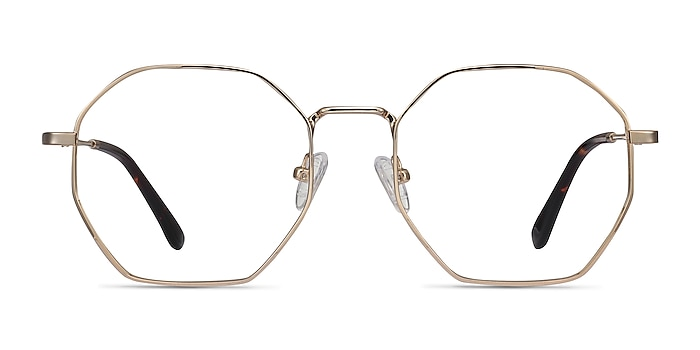 Octave Golden Metal Eyeglass Frames from EyeBuyDirect