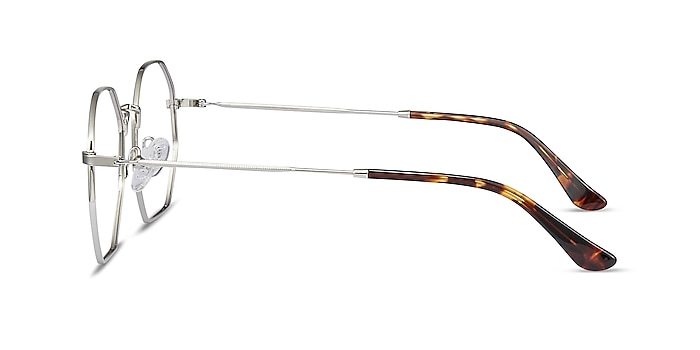 Octave Silver Metal Eyeglass Frames from EyeBuyDirect