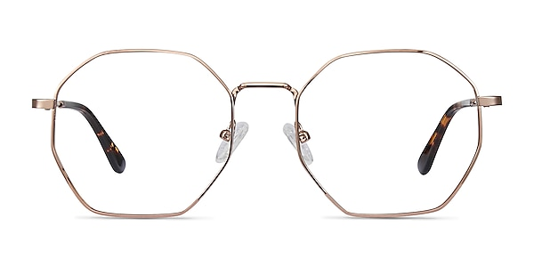 Octave Rose Gold Métal Montures de lunettes de vue