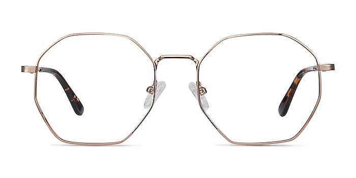 Octave Rose Gold Metal Eyeglass Frames from EyeBuyDirect