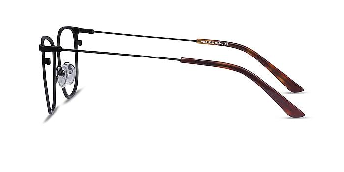 Vita Black Metal Eyeglass Frames from EyeBuyDirect
