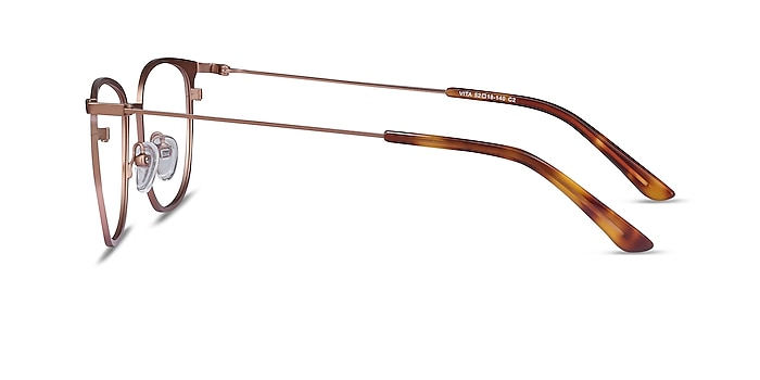 Vita Rose Gold Metal Eyeglass Frames from EyeBuyDirect