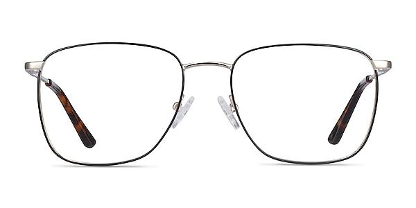 Reason Black Gold Metal Eyeglass Frames