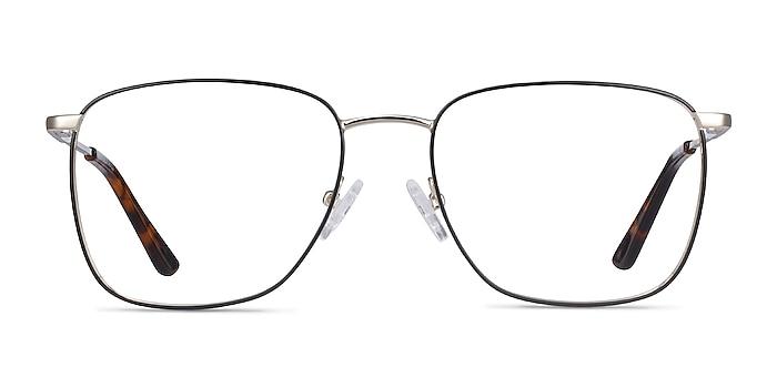 Reason Black Gold Metal Eyeglass Frames from EyeBuyDirect