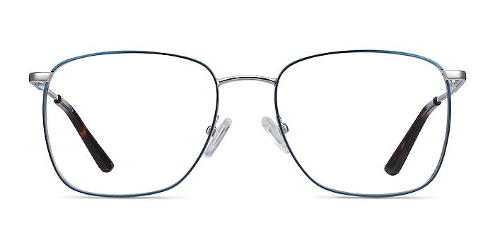 Reason Navy Metal Eyeglass Frames from EyeBuyDirect