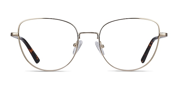 Clotilde Gold Metal Eyeglass Frames