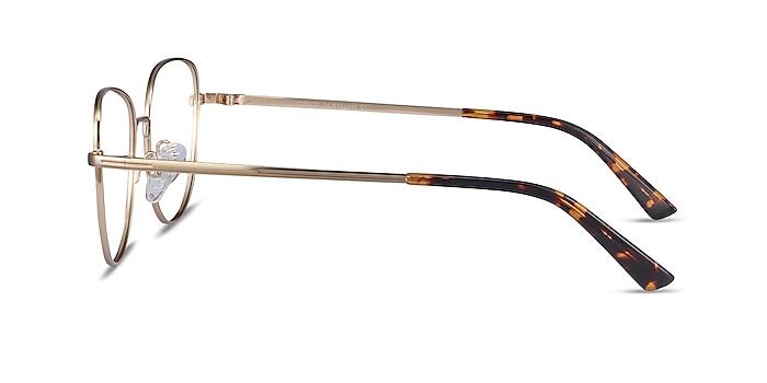 Clotilde Gold Metal Eyeglass Frames from EyeBuyDirect