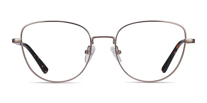 Clotilde Rose Gold Metal Eyeglass Frames from EyeBuyDirect