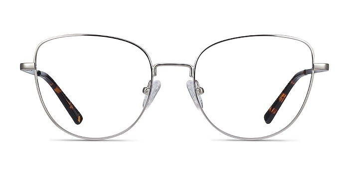 Clotilde Silver Metal Eyeglass Frames from EyeBuyDirect