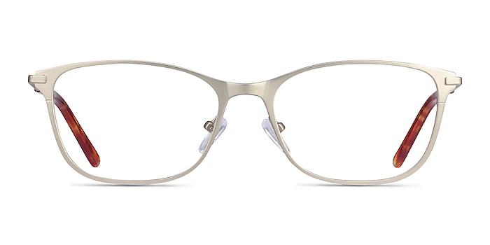 Modena Gold Metal Eyeglass Frames from EyeBuyDirect