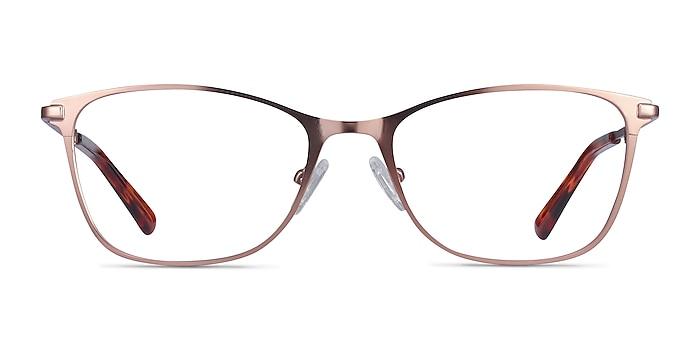 Kasia Rose Gold Metal Eyeglass Frames from EyeBuyDirect