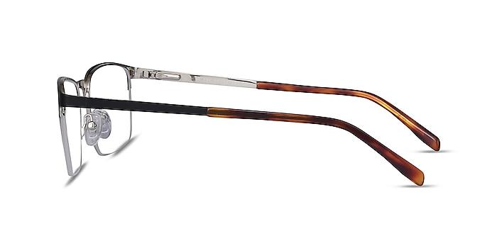 Valery Black Metal Eyeglass Frames from EyeBuyDirect