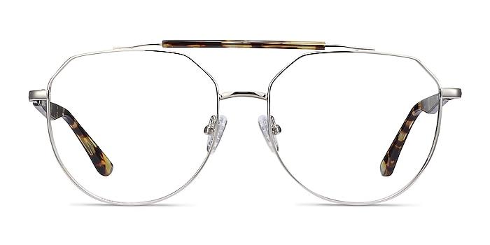 Coxon Silver Tortoise Metal Eyeglass Frames from EyeBuyDirect