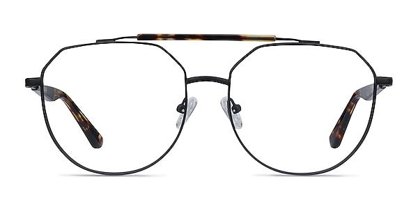 Coxon Black Tortoise Metal Eyeglass Frames