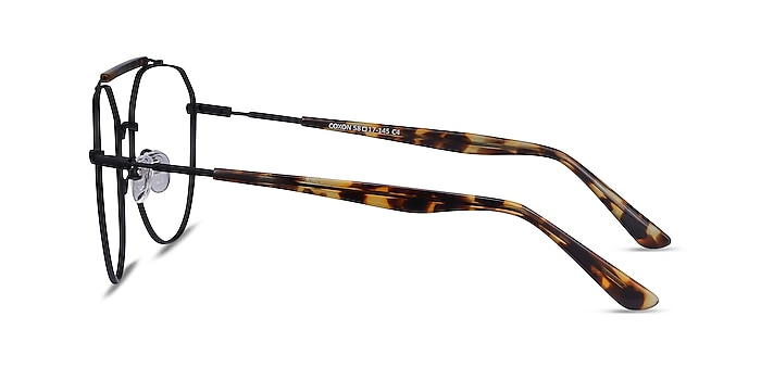 Coxon Black Tortoise Metal Eyeglass Frames from EyeBuyDirect