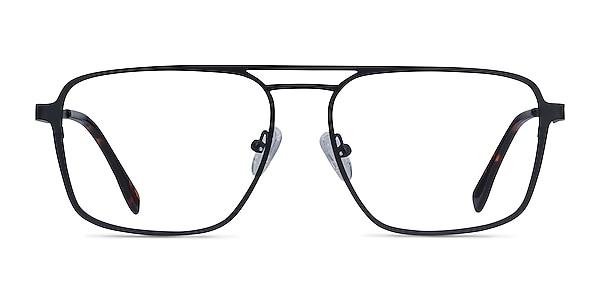 Gallo Black Metal Eyeglass Frames