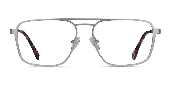 Gallo Silver Metal Eyeglass Frames from EyeBuyDirect