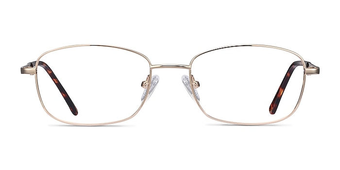 Path Golden Metal Eyeglass Frames from EyeBuyDirect