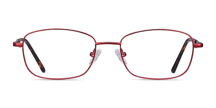 Path Burgundy Metal Eyeglass Frames from EyeBuyDirect