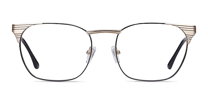 Soulist Black Golden Metal Eyeglass Frames from EyeBuyDirect