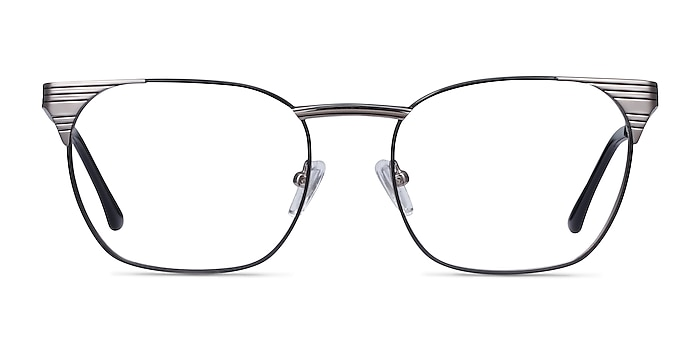 Soulist Black Silver Metal Eyeglass Frames from EyeBuyDirect