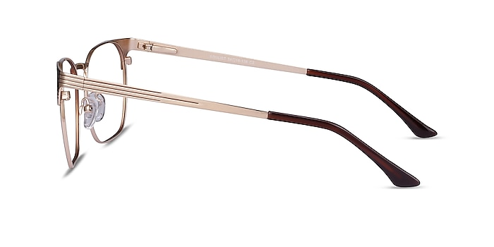 Soulist Brown Golden Metal Eyeglass Frames from EyeBuyDirect