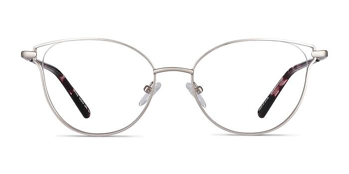 Trance Silver Metal Eyeglass Frames from EyeBuyDirect