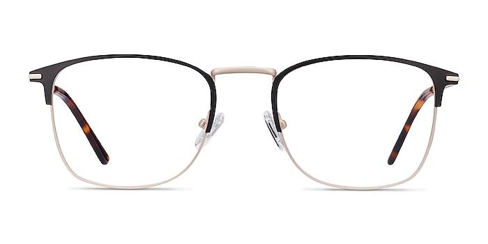 Poppy Black Gold Metal Eyeglass Frames from EyeBuyDirect