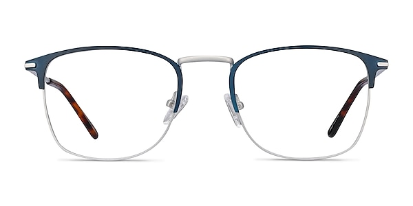 Poppy Navy Metal Eyeglass Frames