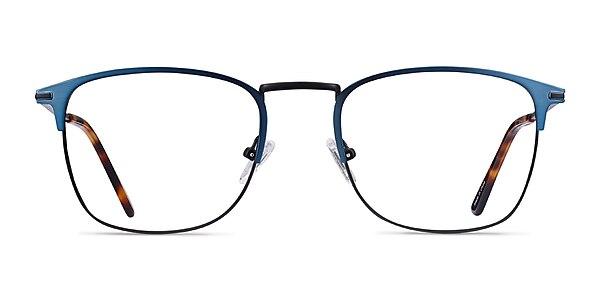 Poppy Navy Black Metal Eyeglass Frames